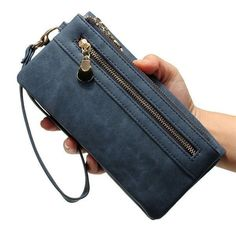Women Double Zipper Polish Leather Long Wallet Ladies Casual Clutches Purse Card Holder. Description Material PU Leather Color Black, Blue, Coffee, Beige Gender Women ,Girl Weight 165g Length 18.5cm (7.28'') Height 9.5cm (3.74'') Width 3.1cm (1.22'') Pattern Solid Inner Pocket 10 Credit Card Slots, 5 Big Pockets,3 Zipper Pockets, 1 Photo Window. Closure Zipper Package include: 1* Double Zipper Long Wallet Product Show Color Show View Show Detail Inner Size Disclaimer : About Size:Size may be…