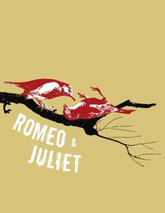 Romeo & Juliet Play Poster by Darren Schwindaman Contemporary idea of using ravens which are known as the death bird for representing the couple could be use for having to use actual people to represent the characters Romeo And Juliet Drawing, Romeo And Juliet Poster, William Shakespeare, Shakespeare Theatre, Book Cover Design, Book Design, Romeo Und Julia, Play Poster, Visual Communication Design