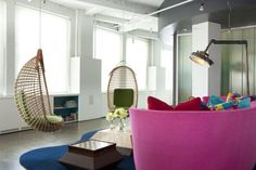 Cooper Square Loft by Christopher Coleman Interior Design Open Space Living, Living Spaces, Living Room Lamp Shades, Loft Style Homes, Loft Interiors, Loft Spaces, Floor Decor, Living Room Modern, Decoration