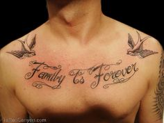 Family Quote Tattoo Designs Family is forever lettering