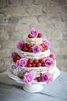 Simple Victoria sponges are most people's favourite cake.  All the more reason for the humble Victoria Sponge to be a beautiful wedding cake.