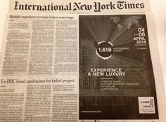 International New York Times is a media Partner of the next 1.618 Sustainable Luxury Event.