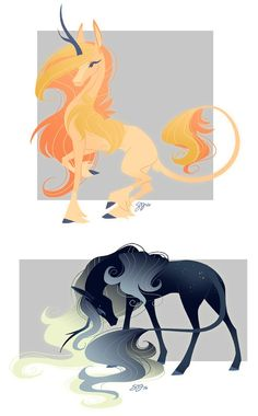Celestial Unicorn Adoptables! - Both Sold by probablyfakeblonde