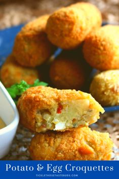 Golden and crispy on the outside and soft in the centre these Potato and Egg Croquettes are mildly spiced and full of flavour. Cubed Potatoes, Yummy Food, Yummy Recipes, Taste Buds, Side Dish Recipes, Soul Food, Food Processor Recipes, Food And Drink