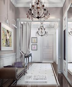 gray hall interior design http://interior-design.pro/en/hallway-interior-design Цвет стен