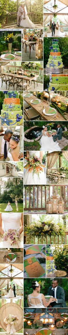 Colorful southern styled wedding inspired by The Princess and the Frog