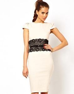 Paper Dolls | Paper Dolls Lace Waistband Dress with Belt at ASOS $85