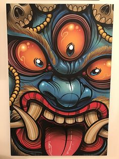 Image of Wrathful Power Images Graffiti, Graffiti Art, Desenho New School, Shetland, Drawn Art, Japanese Tattoo Art, Samurai Art, Buddhist Art, Japan Art