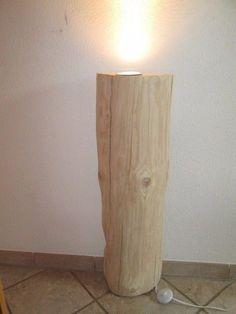 Nr.143, Baumstamm Deckenfluter, 28cm x 12cm x 90cm, Stehlampe, Standleuchte in Möbel & Wohnen, Beleuchtung, Lampen | eBay!