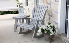 Adirondack Recycled Polymer Outdoor Rocker