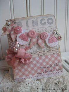 shabby chic birthay card- CUPCAKE CANDLE BANNER card- whats up cupcake have a sweet birthay handmade card. $8.00, via Etsy.
