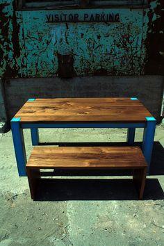 Dining Table industrial modern by WheelersStudio on Etsy, $2200.00