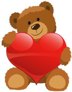 Cute Grizzly Bear Clipart Cute Bear With Heart Png Clipart Picture Png - Clipart Suggest Teddy Bear With Heart, Red Teddy Bear, Teddy Bear Images, Teddy Bear Pictures, Cute Teddy Bears, Valentines Day Teddy Bear, Valentines Art, Bear Gif, Bear Clipart