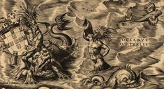 Sea Monster Drawing Map Ancient <b>sea monsters</b>  cartes anciennes  old <b>maps</b> <b></b>