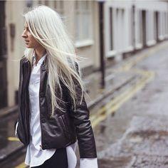 Palmer Harding, Sarah Harris, Boyfriend Shirt, Fall Winter, Leather Jacket, London, Chic, Instagram Posts, Jackets