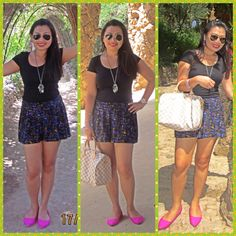 Top-h&m,short-forever 21,bag-louis vuitton,accessories-forever 21,shoes-vincci