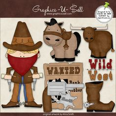 Wild West 1 - Whimsical Clip Art by Alice Smith : Digi Web Studio, Clip Art, Printable Crafts & Digital Scrapbooking!