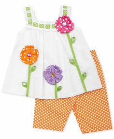 Rare Editions Baby Girls' 2-Piece Tank & Leggings Set
