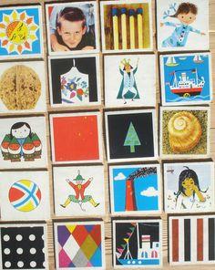Vintage memory kaarten, 20 stuks, 1959, 5,5 x 5,5 cm, Ravensburger, karton, hobbymateriaal  [d] by LabelsAndMore on Etsy