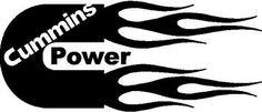 cummins+decals | Cummins, Power, with flames, Vinyl decal sticker