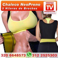 www.ventastvproductos.com, Te traemos el Chaleco Neopower Con Broches Mujer, para que sudes y sudes, quema calorias mientras reaolizas deporte.
