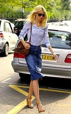 Here's how long I will love denim skirts: FOREVER! :)