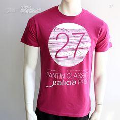 T-Shirt PANTÍN 27 (Malva oscuro). Camiseta oficial PANTIN CLASSIC PRO, evento 27 en color malva oscuro. Malva, Mens Tops, T Shirt, Women, Fashion, Dark, T Shirts, Colors, Puppet
