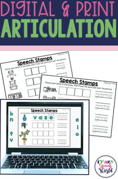 Digital and print articulation activities for speech therapy Articulation Therapy, Articulation Activities, Speech Therapy Activities, Speech Language Pathology, Speech And Language, Word Patterns, Phonological Awareness, Literacy Skills, Letter Sounds