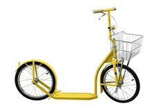 AmishMade Deluxe Kick Scooter Bike  16 Wheel Yellow -- Read more reviews of the product by visiting the link on the image. Scooter Bike, Kick Scooter, 20 Wheels, Aluminum Rims, Horse And Buggy, Racing Wheel, Thing 1, Healthy Exercise, Tricycle