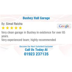 Very clean garage in Bushey in existence for over 65 years. Very experienced team; Clean Garage, Online Reviews, Public, Cleaning, Home Cleaning