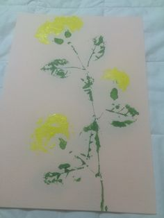 """Yellow and Green."" Choi. 2015. Printmaking"