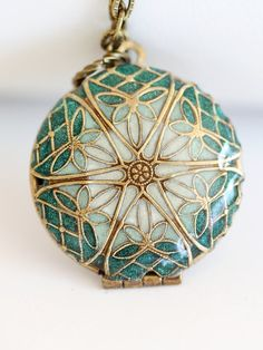 Hey, I found this really awesome Etsy listing at http://www.etsy.com/listing/124505145/locketbrass-locketgreen-locketfiligree