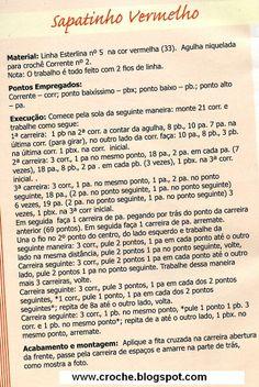 AS RECEITAS DE CROCHÊ: Botinha de croche para menino