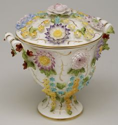 """""""Coalbrookdale"""" candy dish by Coalport."""