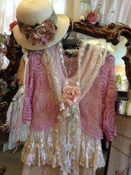 El jardín secreto en Branson, MO, vintage,, bohemio, gitano, ropa romántica victoriana