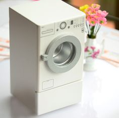 Modern Washing Machine Dollhouse Miniature Accessory in 1/12 scale