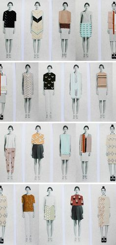 Anna Duthie Graduate 2012 Collection - Patterned prints receive a geometric update with the Anna Duthie Graduate 2012 Collection. Duthie is textile designer who created this collection. Fashion Sketchbook, Fashion Sketches, Fashion Illustrations, Textile Prints, Textile Design, Pencil Drawings Of Love, Fashion Portfolio Layout, A Level Textiles, Fashion Images