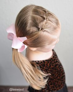 Three flips into a side ponytail. Cute and simple toddler style!