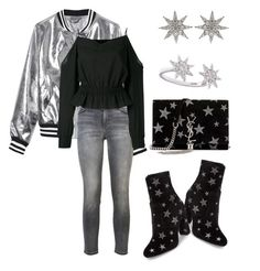 """""""shine"""" by twil24 ❤ liked on Polyvore featuring Sans Souci, Current/Elliott, Steve Madden, Yves Saint Laurent, Balmain and Bee Goddess"""