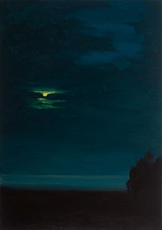 "Michael Brophy - ""Night Portrait: Moon"", 2012 - Oil on canvas"