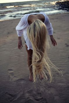 sand and beach: Blond hair, lovely girl  by sanna & josefin, via Flickr