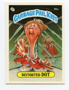 Garbage-Pail-Kids-3rd-Series-96a-Distorted-Dot-Class-Bully-on-Back-1986-Topps