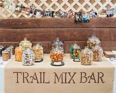 Wedding trail mix bar