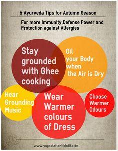 Ayurveda Tips for Autumn Season(Yoga Infographics)
