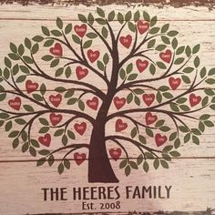 A Personal Creations Exclusive! A striking accent for the heart of your home, this remarkable art canvas is a true celebration of family! Family Tree Drawing, Family Tree Quilt, Family Tree For Kids, Family Tree Art, Heart Canvas, Canvas Art, Grandparents Day Gifts, Family Birthdays, Homemade Gifts