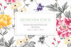 Watercolor seamless pattern by TSTUDIO on @creativemarket