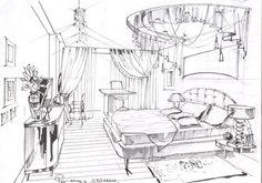 Эскиз спальни.#дизайн спальни#интерьер спальни#дизайн интерьера квартиры#дизайн-проект интерьера#дизайн интерьера в классическом стиле#эскизы интерьеров от руки# Kpop, Мебель, Домашний Декор