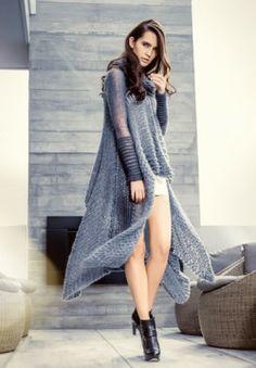 Cashmere Silk Mohair Valentina Cape.Luxury Limited Edition Knitwear www.elkaknitwear.co.nz