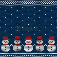 Winter Holiday Seamless Knitted Pattern with Snowmans stock illustration Fair Isle Tapisserie häkeln Knitted Seamless Winter Pattern Stock Vector - Illustration of illustration, hipster: 45878916 Baby Knitting Patterns, Knitting Charts, Knitting Stitches, Hand Knitting, Knitted Christmas Stocking Patterns, Knitted Christmas Stockings, Christmas Knitting, Cross Stitch Borders, Cross Stitch Patterns
