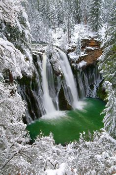 Burney Falls, California; photo by Jean Day Beautiful! | #California #Water_Falls #Nature #Travel #Winter